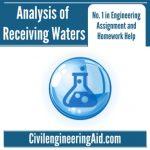 Analysis of Receiving Waters