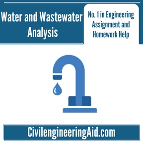 Water and Wastewater Analysis Assignment Help